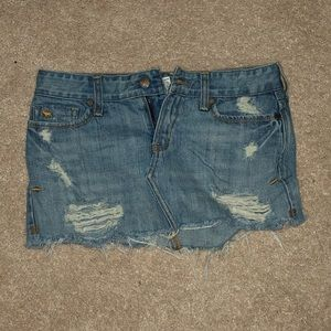 00 Abercrombie and Fitch denim skirt